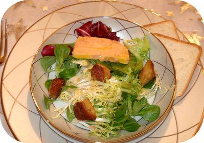Salade St Jacques Foie Gras